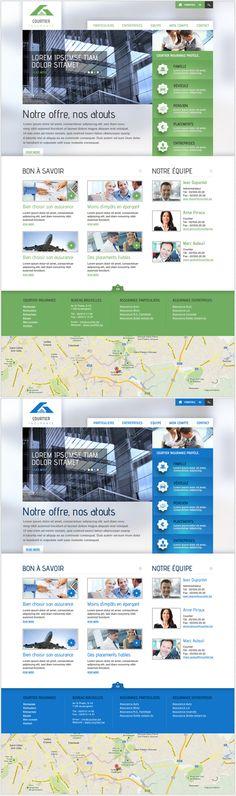 Portal for brokers Website #graphicdesign #webdesign #design #website #layout #newsletter
