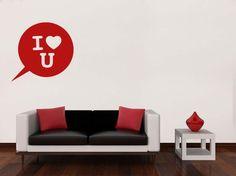 Stickers Spécial St Valentin    #autocollant #adhésif #artmural #wallart #stickermural #deco #decoration #interieur #maison #salon #chambre #SaintValentin #Amour #Coeur #Love #ILoveYou #Romantique