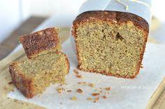 oatmeal and buckwheat flour cake with hazelnuts