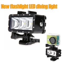 GoPro flashLight lamp Underwater Diving Waterproof LED Flash Video Light Mount For Go Pro Hero 4. Click visit to buy #Photographic #Lighting #PhotographicLighting