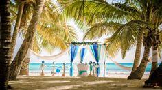 Amazing #beach_wedding #arch in #Saona_Island, Dominican Republic. Wedding planner www.wedding-caribbean.com Photo by Nik Vacuum.