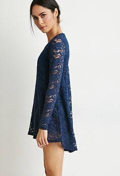 Contemporary Floral Lace Mini Dress