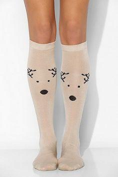 Reindeer Knee-High Sock