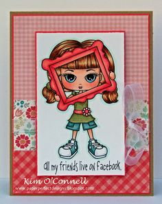 """Whimsie Doodles """"Social Teen Facebook"""" digital image"""