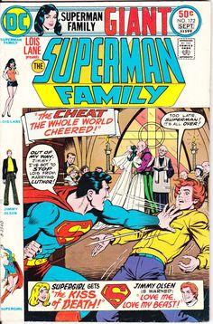 Superman Family 172 DC Comics Girlfriend Lois Lane Supergirl Female Superheroes Jimmy Olsen Giant 1975 FN  by LifeofComics #comicbook