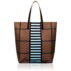 Shopping bag Marni (960 RON) ❤ liked on Polyvore featuring bags, handbags, tote bags, purses, сумки, handbags purses, marni tote, brown purse, shopping tote and handbags totes
