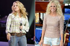 Carrie Underwood. Before and after.