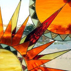 Southwest Sun - Stained Glass Art Panel | Tumblr