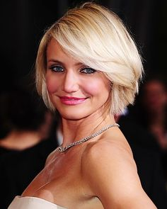 """Cameron Diaz is an American producer, actress and former fashion model. She is 45 still considered one of Hollywood's leadingRead More Stylish Cameron Diaz Hairstyles"""" Thin Hair Haircuts, Layered Bob Hairstyles, Spring Hairstyles, Pretty Hairstyles, Short Hair Cuts, Short Hair Styles, Bob Haircuts, Long Hairstyles, Modern Haircuts"""