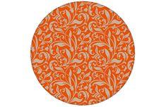 """feine florale Tapete """"Victorian Delight"""" mit victorianischem Blatt Muster in orange angepasst an Schöner Wohnen Wandfarben-  Vlies Tapete Tapeten Rollen Breite: 46,5cm Rapport Höhe: 23,5cm   Rapport Breite: 23,5cm  Design Familie: 00070  #gräflichmünstersche #Malve #SchönerWohnen #interior #interiordesign #Blumen #Ornamente"""