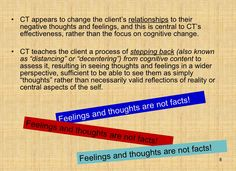 Cognitive Therapy | Repinned by Melissa K. Nicholson, LMSW http://www.adoptioncounselinggr.com