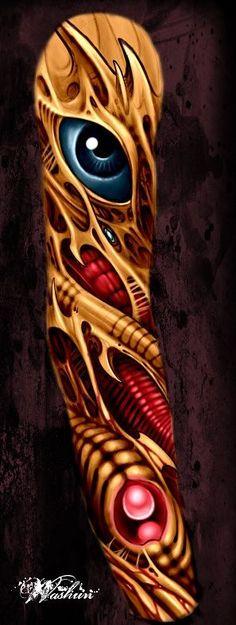 バイオメカ,バイオタトゥー,フラッシュアートのタトゥーデザイン|タトゥーナビ