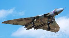 6Th June 2015. Avro Vulcan XH558 on short final to Doncaster after her first public display of the season at Throckmorton Air Show, XH558 is in her final display season before being grounded where she will remain at Doncaster on display and for fast taxis.