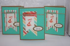 """Stampin' Up! CARD INSIDE SAYS:  The fox says: """"Ring-ding-ding-ding-dingeringeding! Wa-pa-pa-pa-pa-pa-pow! Hatee-hatee-hatee-ho! A-hee-ahee ha-hee!"""" AND """"Happy Birthday!""""  STAMPS: Fox and Friends INK: Tangerine Tango PAPER: Retro Fresh DSP, Coastal Cabana, Very Vanilla, Baked Brown Sugar EXTRAS: Big Shot, Decorative Dots texture folder, Banners Framelit Dies (2 sizes), large oval punch, small oval punch, hemp twine, Retro Fresh washi tape, dimensionals, glue dots, coastal cabana marker"""