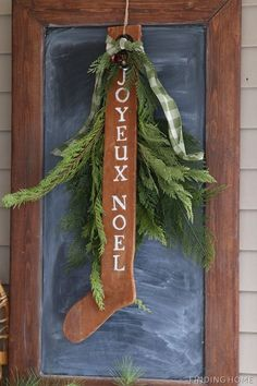 Christmas Vintage Front Porch Sign