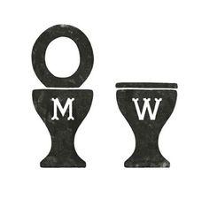 Men & Women Toilet Graphic