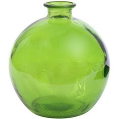 Amazon.com: Lime Recycled Glass Ball Vase: Home & Kitchen
