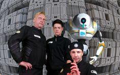 (Left to right) Commander Sven Hovardsen, Wing Commander Helena Hope, Dax, Number 4