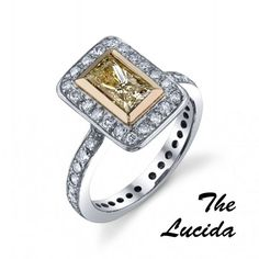 The Lucida, from George Thompson, is the perfect ring for a bubbly bride, and the pops of yellow will match her elegant summer wedding too.