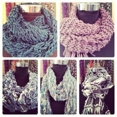 Upstairs Jozi hand knitted snoods & scarves