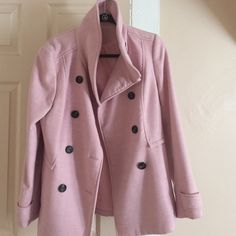 Salmon Peacoat from H&M Lovely peacoat... Great quality & color... Great for fall/winter.... Color is still vibrant... Lightly worn... Still in fabolous condition! H&M Jackets & Coats Pea Coats