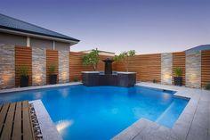 Contemporary design swimming pool.