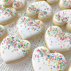 "762 Likes, 51 Comments - Margaret Rettig Nelson (@bluesugarcookieco) on Instagram: ""Sprinkle hearts  #sprinkles #valentines #cookies #homemadesprinkles #color #abmlifeissweet…"""