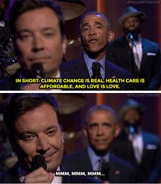 Trending GIF jimmy fallon barack obama tonight show president slow jam the news affordable health care commander in preach Obama Tumblr, Tonight Show, Obama Administration, Jimmy Fallon, Michelle Obama, Barack Obama, New Trends, Clean House, Climate Change