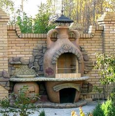Gratar caramida - Modele si idei de gratare de caramida Outdoor Spaces, Outdoor Living, Outdoor Decor, Parrilla Exterior, Backyard Movie Theaters, Fireplace Pictures, Four A Pizza, Backyard Fireplace, Outdoor Oven