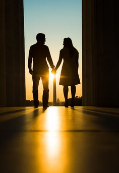 Washington DC National Mall Lincoln Memorial Sunrise Engagement Photographer