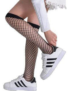 Anlaey Fishnet Tights Black White fishnets Stockings Pantyhose for Women  Girls e1c17b73962