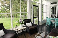I love love love screened-in porches!