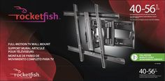 ROCKETFISH Full Motion TV Wall Mount For Most   Flat Panel TVs   Extends  Holds Most   Flat Panel TVs Weighing Up To 130 Lbs. Tilts, Swivels And  Extends Off ...