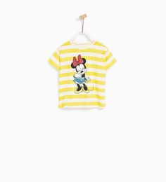 Image 1 of STRIPED MINNIE MOUSE T-SHIRT from Zara