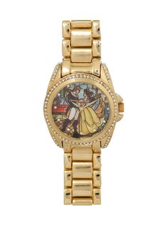 Disney Beauty And The Beast Stained Glass Watch | Hot Topic