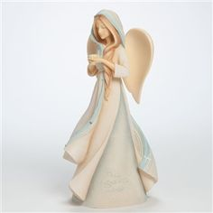 Foundations Angel With Flower In Hands Figurine