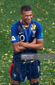 Kylian Mbappe of France celebrates after the 2018 FIFA World Cup… Soccer Stars, Football Soccer, Mbappe Psg, Cr7 Messi, Fifa World Cup 2018, Pogba, France Football, Football Players, Celebrities