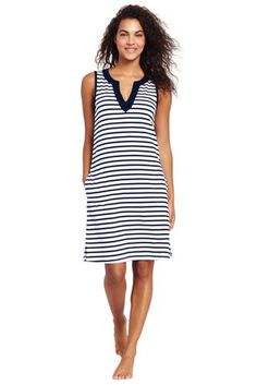 60a8fad893a05 Women s+Cotton+Jersey+Tunic+Dress+Cover-up+from+ · Lands End ...
