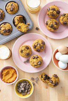 Flourless Pumpkin Chocolate Muffins   Weelicious
