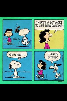 Yeah, Snoopy, bite Lucy.