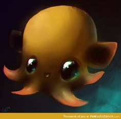 Dumbo Octopus by Quiixotic Pretty Art, Cute Art, Flapjack Octopus, Dumbo Octopus, Funny Texts Jokes, First Art, Tattoo Blog, Little Monsters, Sea Creatures