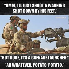 Military and army are the backbone of defense fro any country but as you know us, we are not here to discuss any thing like this , let us show you a collection of Top 20 military memes funny army that are so hilarious. Military Jokes, Army Humor, Army Memes, Military Life, Military Army, Marine Memes, Excuse Moi, American Soldiers, Special Forces