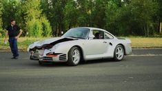 A Porsche 959 is worth more than a million dollars in today's classic car market. How much is someone willing to pay for one that's been in an accident? We're going to find out soon because a banged-up example will cross the Mecum auction block during Monterey Car Week. The auction house estimates the car to fetch between $450,000 and $550,000. Oddly, the…