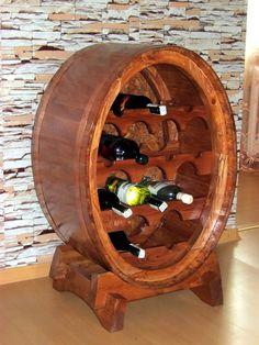 Hand made, 12 bottle wine rack. Woodworking Bench Plans, Wood Plans, Woodworking Classes, Woodworking Tools, Wooden Wine Holder, Wood Wine Racks, Winery Tasting Room, Home Bar Designs, Wine Table