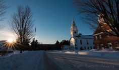 Last light in Hancock NH.  Photo credit: Eight Cattails Imagery