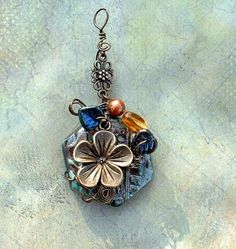 images of wire wrapped jewelry | Wire Wrapped Hawaiian Flower Pendant | Jewelry