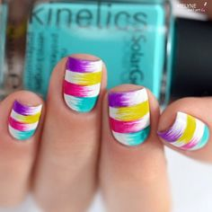 Teenagers and trendy women will definitely take and, at least one, such manicure this summer.
