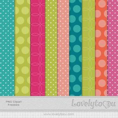 FREE dots and circles simmer brights digital paper pack by Lovelytocu