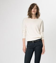 maje GALOPIN Sweater in wool and cashmere at Maje US