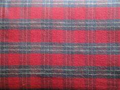 Red Flannel Plaid Material 1 Yard Destash by kittredgemercantile